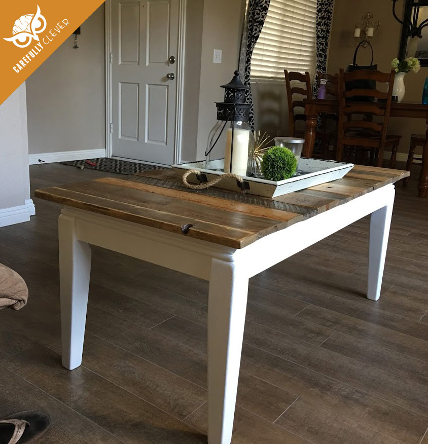 Rustic Wood Pallet Coffee Table: Rustic Pallet Coffee Table Top